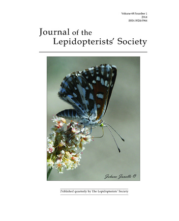 Journal of the Lepidopterists' Society